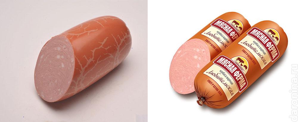 Визуализация этикетки колбасы