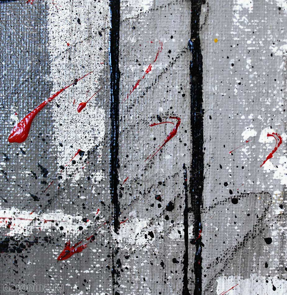 Картина абстракция «Маки» (фрагмент)