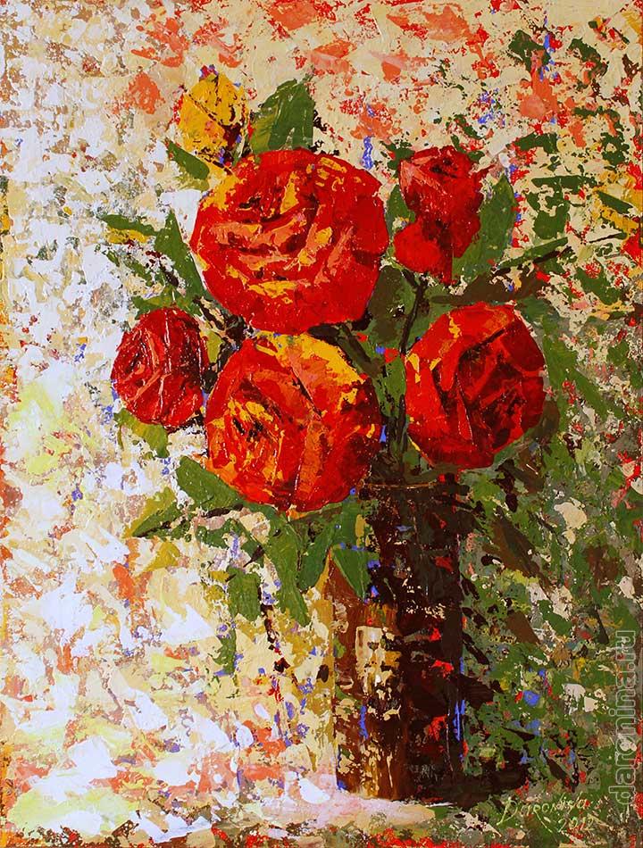 Картина «Красные розы»