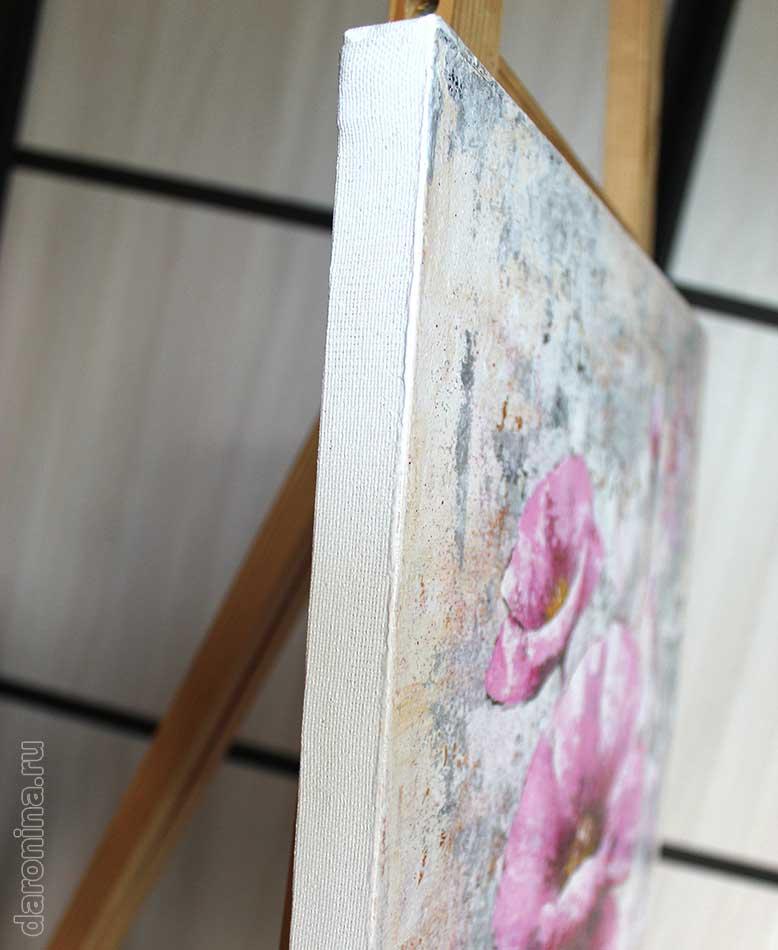 Картина «Аленький цветочек» (торец)