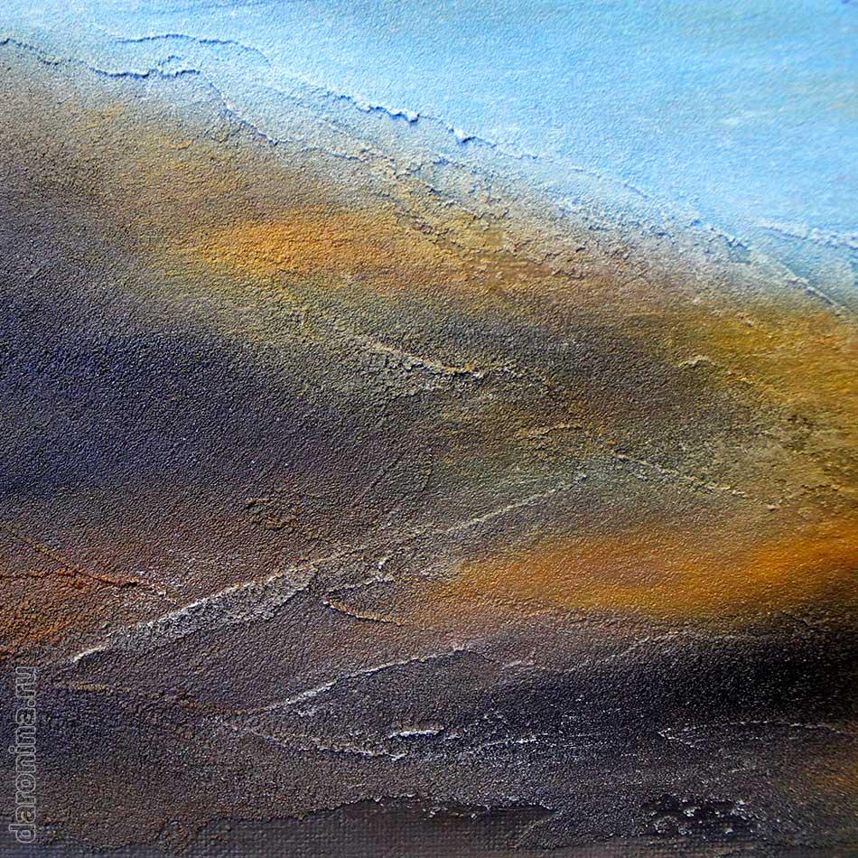 Картина маслом «Дыхание Байкала» (фрагмент)