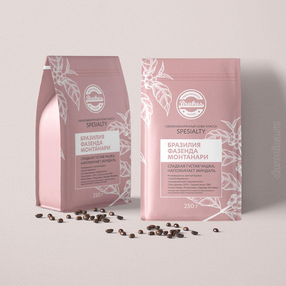 """дизайн упаковки кофе """"Brabus"""""""