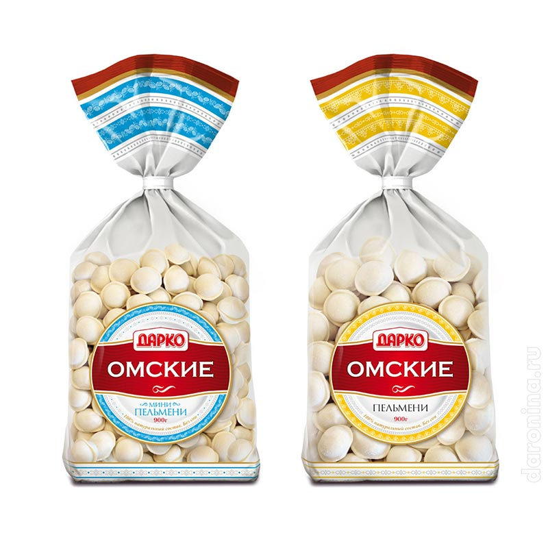 Редизайн упаковки «Омские»