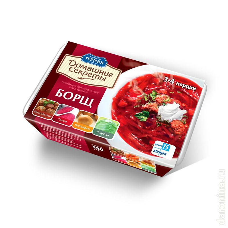 Редизайн серии упаковок супов