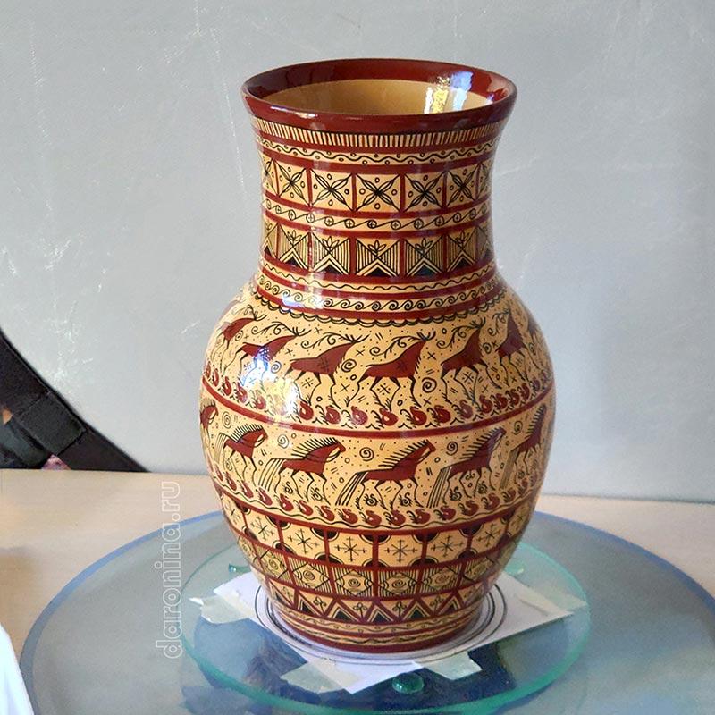 Мезенская роспись крынки