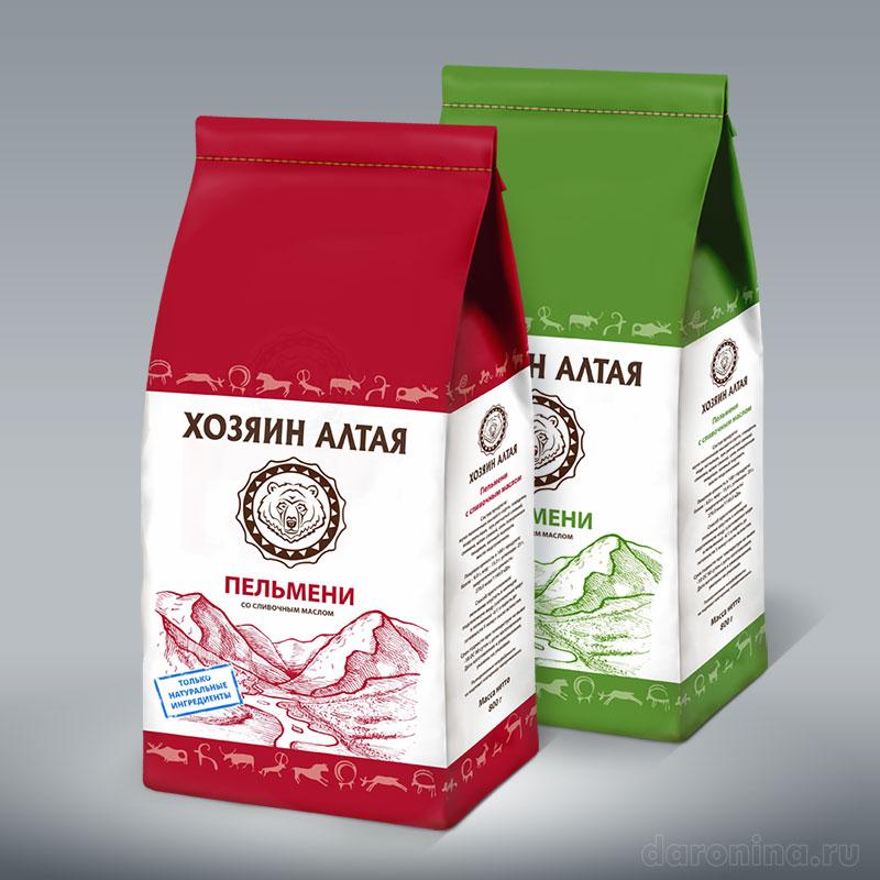 Дизайн серии упаковок Хозяин Алтая